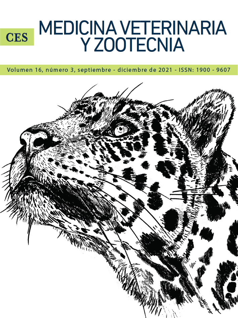 Portada revista CES Medicina Veterinaria y Zootecnia vol 15(3) 2020